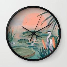 Blue Heron Wall Clock