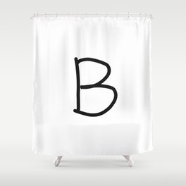 B LOVE Shower Curtain