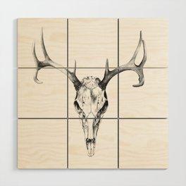 Deer Skull in Pencil Wood Wall Art