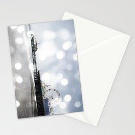 Sparkling grey Santa Monica Pier Stationery Cards