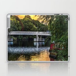 Above The Toll Bridge At Pangbourne Laptop & iPad Skin