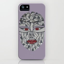Woman's Visage red eyes iPhone Case