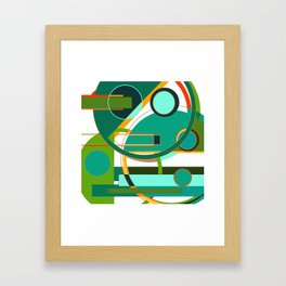 D is for Deco: Abstract Art Deco Font Typography Framed Art Print