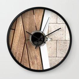 Artistic Cold Brew Shot 2 // Wood Steel & Stone Caffeine Coffee Shop Barista Wall Hanging Photograph Wall Clock