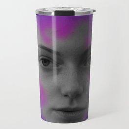 Pink and blue portrait Travel Mug