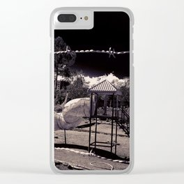 Playtime Is Over Clear iPhone Case