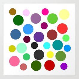 Spotty Colorful Circles Art Print