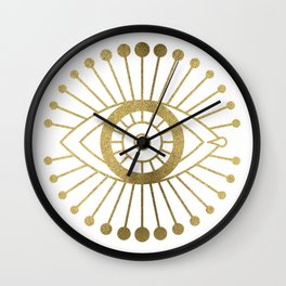 Evil Eyes – Gold Palette Wall Clock