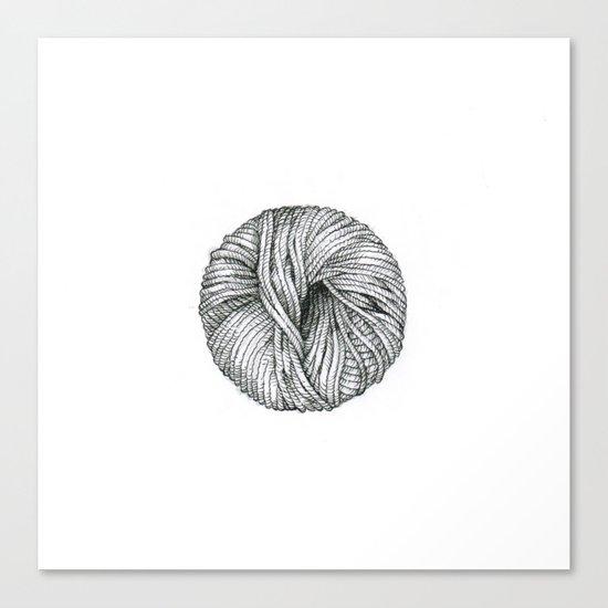 Ball of yarn Canvas Print