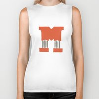 lettering Biker Tanks featuring M Lettering by Mallory Ming