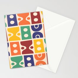 Mid Century Modern Abstract Composition 620 Stationery Cards