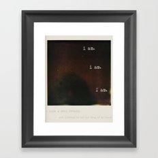 plath Framed Art Print