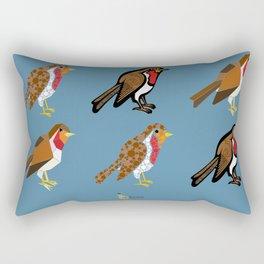 3 Robins Rectangular Pillow