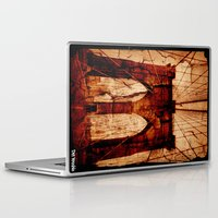 brooklyn bridge Laptop & iPad Skins featuring Brooklyn Bridge by Del Vecchio Art by Aureo Del Vecchio
