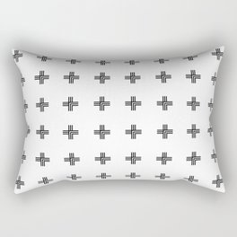 Geometric Swiss Cross Pattern Rectangular Pillow