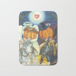 SLEEPY HOLLOW WEDDING - Brack Headless Horseman Halloween Art Bath Mat