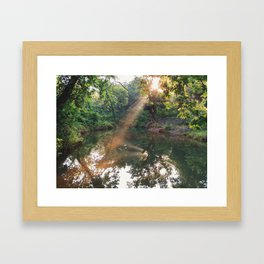 Sunset on the Springs Pt. 3 Framed Art Print