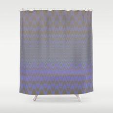 Subtle Wavy Purple and Grey Chevron Heartbeat Pattern Shower Curtain