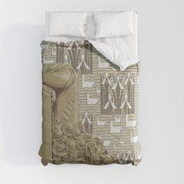 Lion depart de rampe en pierre pour en escalier monumental Tortues carreaux gres Canards et iris ten Comforters