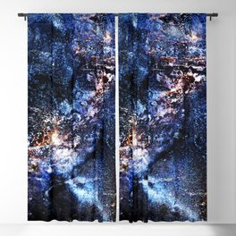 Cosmic Birds Abstract Blackout Curtain