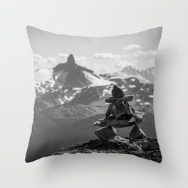 Black Tusk and the Inukshuk Throw Pillow