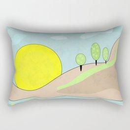 Sunrise , abstract Rectangular Pillow