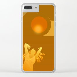 Golden Moments Clear iPhone Case