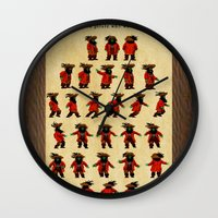 monkey island Wall Clocks featuring Monkey Island - LeChuck's Moves by Sberla