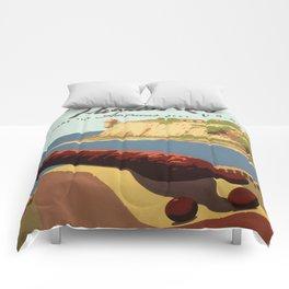Vintage poster - Puerto Rico Comforters