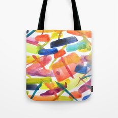 Abstract Brushstrokes Tote Bag