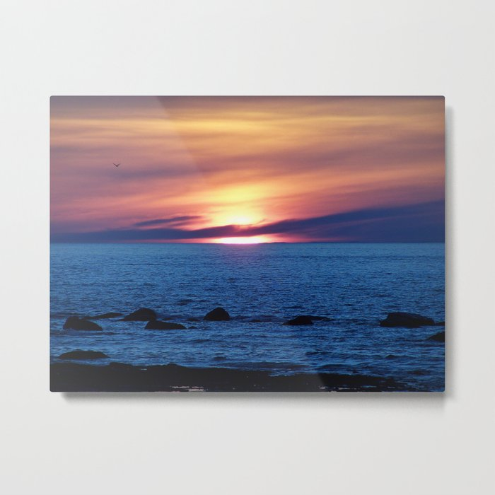 Sunset over Blue Waters Metal Print