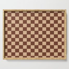 Checkers - Brown and Beige Serving Tray