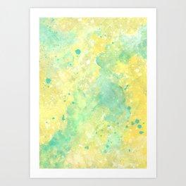Lemon Teal Art Print