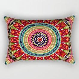 Colorful Ethnic Mandala Africa Inspiration Rectangular Pillow