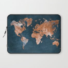world map 15 Laptop Sleeve