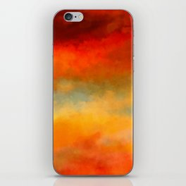 Abstract Sunset Digital Painting iPhone Skin