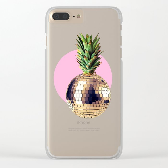 Ananas party (pineapple) Pink version Clear iPhone Case