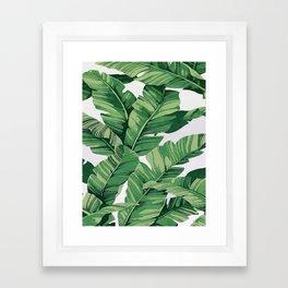 Tropical banana leaves VI Framed Art Print