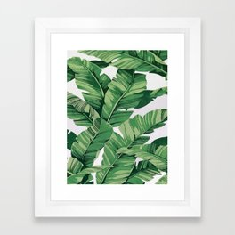 Tropical banana leaves VI Framed Art Print