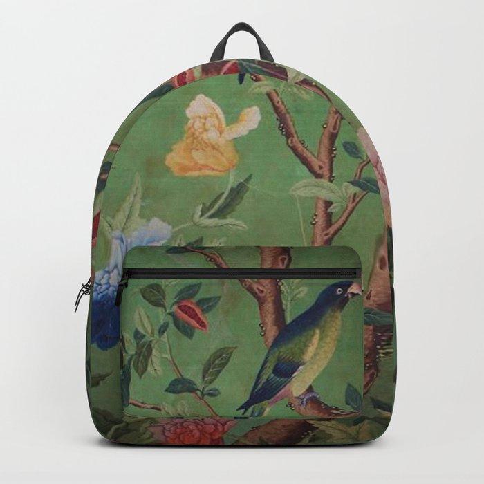Green Dream Chinoiserie Backpack