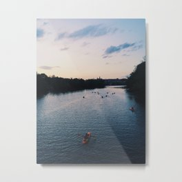 Twilight Kayakers Metal Print