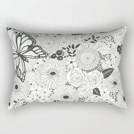 Monarch butterfly garden Rectangular Pillow