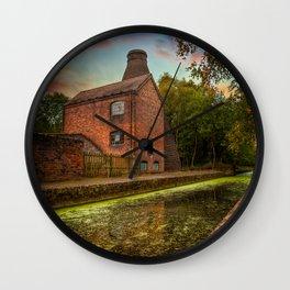 Coalport Bottle Kiln Sunset Wall Clock