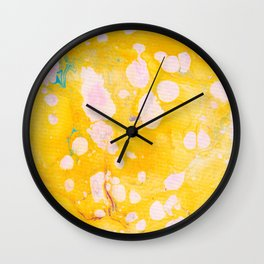 speckled marble | yellow Wall Clock