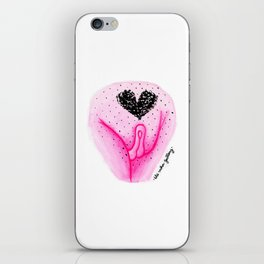 Pubic Heart - Neon Pink iPhone Skin