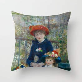 Pierre-Auguste Renoir - Two Sisters (On the Terrace) Throw Pillow
