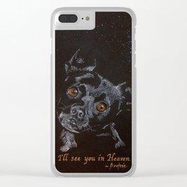 Custom Pet Art Clear iPhone Case