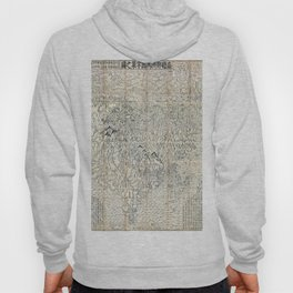 First Japanese Buddhist World Map showing Europe, America and Africa - print from 1710 Hoody