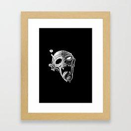 Zombie Drool Framed Art Print