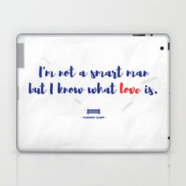 Forrest Gump knows what love is Laptop & iPad Skin